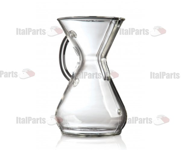 CHEMEX EIGHT CUP GLASS HANDLE